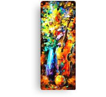 The Music of Violin Canvas Print