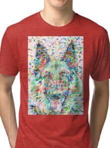 GERMAN SHEPHERD.1 - watercolor portrait Tri-blend T-Shirt