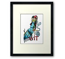 Knit Wit Framed Print
