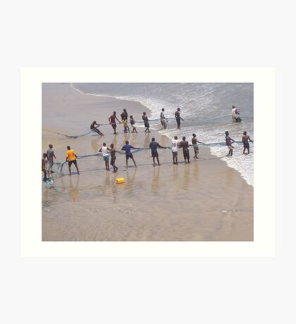 Net fishing, Atlantic Ocean, Accra, Ghana, 2005 Art Print