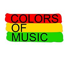 colors of music Photographic Print