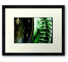 Abstract Glass Macro #13 Framed Print