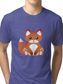 Little sitting fox Tri-blend T-Shirt