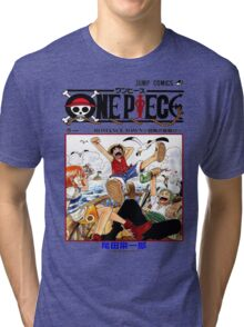 One Piece Volume 1 Manga Cover Tri-blend T-Shirt