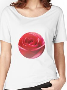 Red rose Close up Women's Relaxed Fit T-Shirt