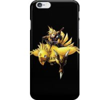 Cloud rides a chocobo !! iPhone Case/Skin