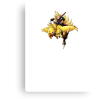 Cloud rides a chocobo !! Canvas Print