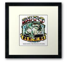 BUFO BEER Framed Print