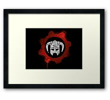 Gears of dovahkiin Framed Print
