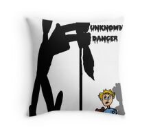 Fear of Unknown Danger Throw Pillow
