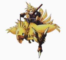 Cloud rides a chocobo !! Kids Clothes
