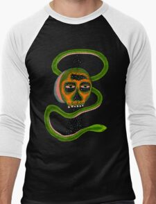 Insane Reptile Brain Men's Baseball ¾ T-Shirt