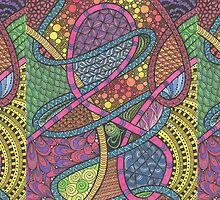 Rainbow Tangle by KatieMaryMac