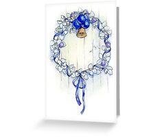 Blue wreath Greeting Card