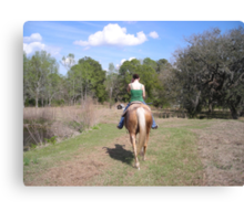 Riding on a Lazy Afternoon Canvas Print
