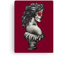Sugar Skull Sweetheart Canvas Print