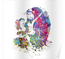 Beauty and the Beast Belle Disney Princess Watercolor Poster