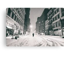 Snowy Night in New York City Canvas Print