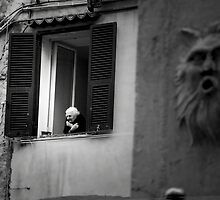 Old woman in Ventimiglia, Italy by Monica Di Carlo