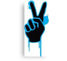 peace - love- groovy  Canvas Print