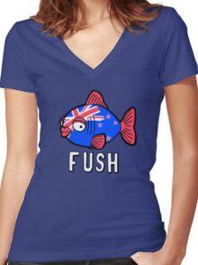 Fush Women's Fitted V-Neck T-Shirt