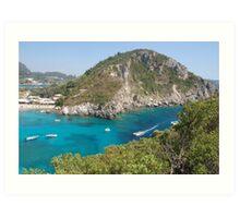Beautiful Corfu in Mediterranean Art Print