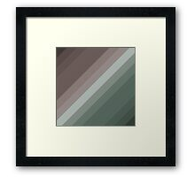 Vector Stripes - Modern Design by code-eeee Framed Print