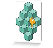 QBert is waiting... Greeting Card