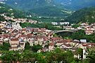 Saint Claude city in Jura mountains by Patrick Morand