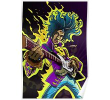 Dream Big Hendrix Illustration Poster