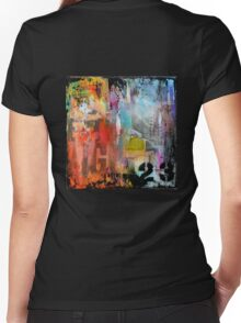 New York Times Square and Taxi Series #23 Women's Fitted V-Neck T-Shirt