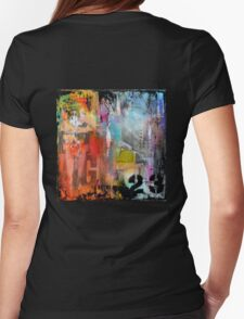 New York Times Square and Taxi Series #23 Womens Fitted T-Shirt