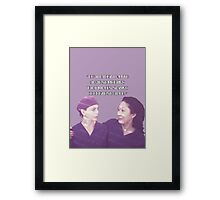 Cristina and Meredith goodbye Framed Print