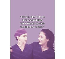 Cristina and Meredith goodbye Photographic Print