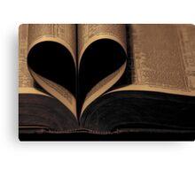 Book Heart Canvas Print