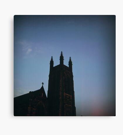 leam church at dusk Canvas Print
