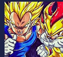 SSJ Vegeta & Super Shadow by protiny
