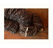 Handspun Jacob's Wool Art Print