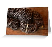 Handspun Jacob's Wool Greeting Card