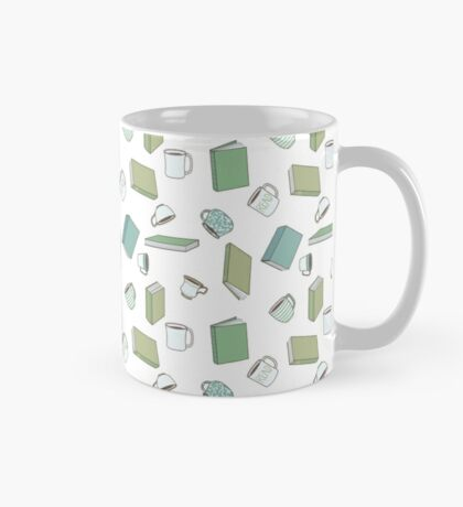 Books and Hot Beverages Mug