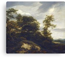 Iacob van Ruisdael –  A Wooded Dune Landscape (c. 1648) Canvas Print