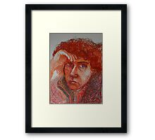 Red - Portrait Of A Woman Framed Print