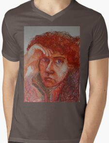 Red - Portrait Of A Woman Mens V-Neck T-Shirt