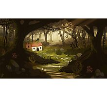 Little Forest Cottage Photographic Print
