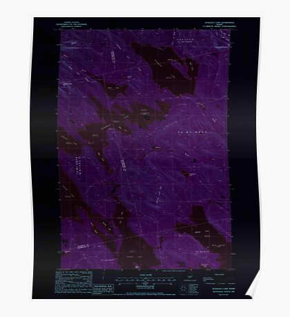 Maine USGS Historical Map Scraggly Lake 102949 1988 24000 Inversion Poster
