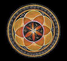 Sacral Chakra Mandala by Laural Virtues Wauters