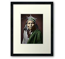 Apache Indian Framed Print
