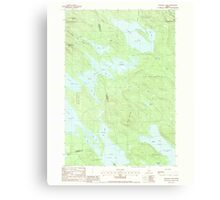 Maine USGS Historical Map Scraggly Lake 102949 1988 24000 Canvas Print