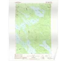 Maine USGS Historical Map Scraggly Lake 102949 1988 24000 Poster