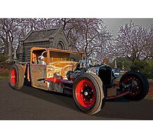 Rat Rod Roadster Pickup Photographic Print